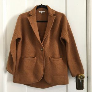 Madewell Saville Rust Sweater Blazer Merino Wool Size Small